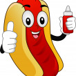 Mascot  Hotdog Sandwich — Stock Photo