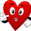 Card Suite Heart Mascot — Stock Photo