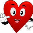 Stock Photo: Card Suite Heart Mascot