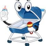 Mascot Baby Stroller — Stock Photo #23304488