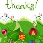 Thank You Card — Stock Photo