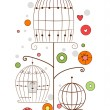 Stock Photo: Bird Cages Design