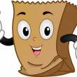 Brown Paper Mascot — Stock Photo