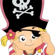 Pirate Girl Birthday — Stock Photo