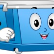 Stock Photo: Wheeled Storage Bin Mascot