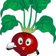 Red Beetroot Mascot - Stock Photo
