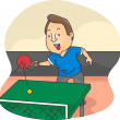 Male Table Tennis Player — Foto Stock