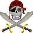 Pirate Skull Swords — Stock Photo