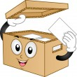 Carton Box Mascot  — Stock Photo