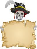 Pirate Scroll Frame — Stock Photo