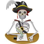 Scrittura pirata — Foto Stock