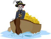 Pirate Transporting Gold — Stock Photo