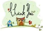 открытка с благодарностями — Стоковое фото