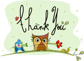 Thank You Card — Foto Stock