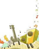 Music Elements Doodle Background — Stock Photo
