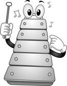 Xylophone Mascot — Stock Photo