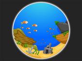 Telescopic View of an Underwater Scene — Stock Photo