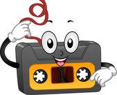 Retro Casette Tape Mascot — Stock Photo