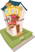 House in Cross Section — Stock Photo