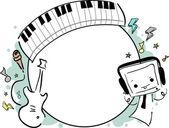 Music Frame Doodle — Stock Photo