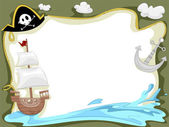 Pirate Ship Background — Stock Photo