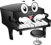 Mascotte di pianoforte — Foto Stock