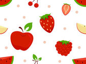 Red Fruits Background — Stock Photo