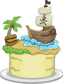 Pirate Cake — Stock Photo