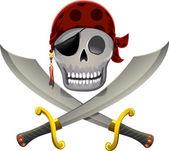 Pirate Skull Swords — Stock Photo