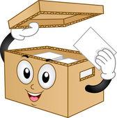 Carton Box Mascot — Stock Photo