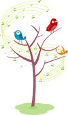 Singing Birds on a Tree — Stock Photo