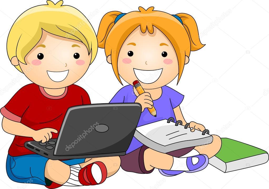 Resultado de imagen de dibujo niño dentro ordenador