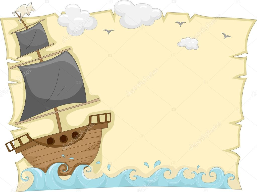 Pirate Ship Background Background Illustration of a Pirate Ship Sailing on The Sea Tossed by Waves