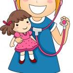 Little Girl Doctor — Stock Photo #26419793