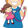 Stock Photo: Little Girl Doctor