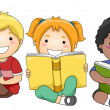 Children Reading Books — Foto de Stock