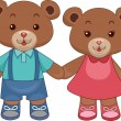 Stock Photo: Toy Teddy Bears Holding hands