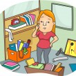 Woman to Declutter an Office Space — Stock Photo