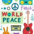 Peace Design Elements — Stock Photo