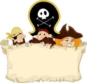 Pirates with Blank Map — Stock Photo