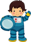 Astronaut Boy — Stock Photo