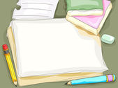 Pen and Paper Background — Stock Photo