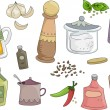 Spices and Condiments  — Stockfoto