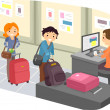 Luggage Check-In at Airport — Foto de Stock
