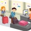 Luggage Check-In at Airport — Stock Photo