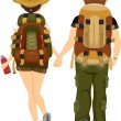 Back View of Couple Hiking — Stock Photo #26420043
