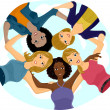 Girl Team Huddle — Stock Photo #26420077