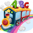 Rainbow Train with ABC — Stock Photo