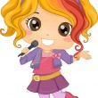 Little Girl Pop Star — Stock Photo