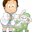 Toddler Boy Doctor — Stock Photo